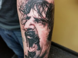Realistic Portrait Black and Grey Tattoo